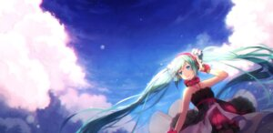 Rating: Safe Score: 39 Tags: dress hakusai hatsune_miku headphones vocaloid User: mattiasc02
