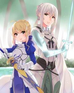 Rating: Safe Score: 9 Tags: armor bedivere_(fsn) dress fate/grand_order saber sarfata sword User: Mr_GT