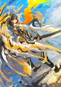 Rating: Safe Score: 34 Tags: mamuru mecha_musume sword User: 椎名深夏