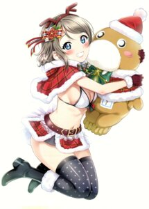 Rating: Safe Score: 32 Tags: agoitei bikini_top christmas cleavage heels horns love_live!_sunshine!! sankuro thighhighs watanabe_you User: Radioactive