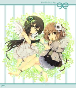 Rating: Safe Score: 16 Tags: gum_(artist) hirasawa_yui k-on! lolita_fashion nakano_azusa wings User: Radioactive