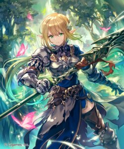 Rating: Safe Score: 28 Tags: armor lee_hyeseung pointy_ears shadowverse thighhighs weapon User: Mr_GT