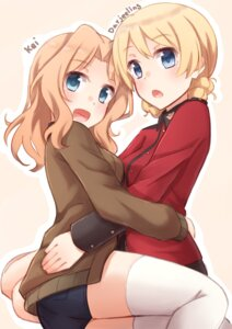 Rating: Safe Score: 42 Tags: ass darjeeling girls_und_panzer kapatarou kay_(girls_und_panzer) symmetrical_docking thighhighs uniform User: Mr_GT