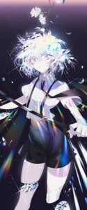 Rating: Questionable Score: 30 Tags: diamond_(houseki_no_kuni) dj.adonis guro houseki_no_kuni sword torn_clothes User: charunetra