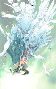 Rating: Safe Score: 15 Tags: hatsune_miku nansui_kinoko thighhighs vocaloid wings User: Radioactive