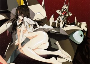 Rating: Questionable Score: 46 Tags: ass kizaki_emi kurogane_no_linebarrels mecha naked_cape tsunashima_shirou User: blooregardo