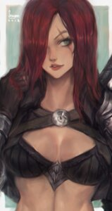 Rating: Safe Score: 12 Tags: armor bikini_top cleavage katarina_du_couteau league_of_legends seuyan signed User: charunetra