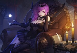 Rating: Safe Score: 47 Tags: cleavage dress league_of_legends luxanna_crownguard thank_star thighhighs User: Mr_GT