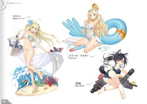 Rating: Safe Score: 36 Tags: animal_ears ass azur_lane bikini centaur_(azur_lane) emile_bertin_(azur_lane) gun heels oyari_ashito pointy_ears saru school_swimsuit shigure_(azur_lane) swimsuits tail tony_taka underboob weapon User: Twinsenzw