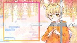 Rating: Questionable Score: 7 Tags: animal_ears kitsune megane tagme tail urim wallpaper User: Dreista