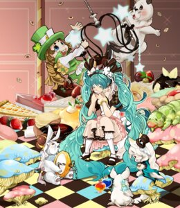 Rating: Safe Score: 16 Tags: alice_in_wonderland cosmic cosplay dress hatsune_miku vocaloid User: charunetra