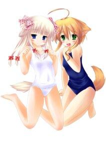 Rating: Safe Score: 31 Tags: animal_ears inumimi mikan_(wanko_to_kurasou) neko_pan pantsu school_swimsuit silviana swimsuits tail wanko_to_kurasou User: MyNameIs