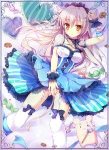 Rating: Questionable Score: 128 Tags: animal_ears dress kaniya_shiku nekomimi nopan stockings tail thighhighs User: 椎名深夏