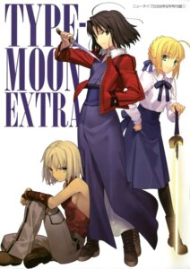 Rating: Safe Score: 23 Tags: canaan canaan_(character) fate/stay_night kara_no_kyoukai ryougi_shiki saber takeuchi_takashi type-moon User: Aurelia