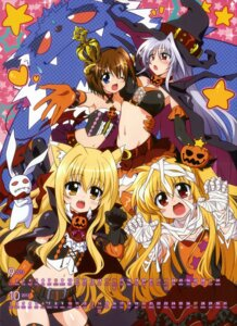 Rating: Questionable Score: 26 Tags: alicia_testarossa animal_ears bandages calendar cleavage halloween kawakami_shuuichi mahou_shoujo_lyrical_nanoha mahou_shoujo_lyrical_nanoha_a's mahou_shoujo_lyrical_nanoha_innocent reinforce yagami_hayate yuri_eberwein User: vkun