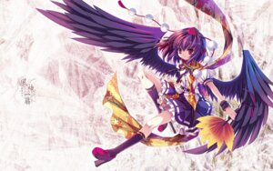 Rating: Safe Score: 19 Tags: capura.l shameimaru_aya touhou wallpaper wings User: charunetra