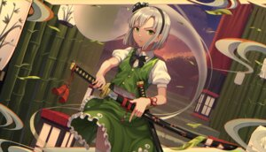 Rating: Questionable Score: 16 Tags: goback konpaku_youmu skirt_lift sword touhou User: Dreista