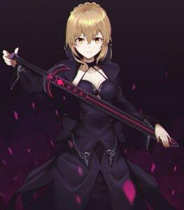 Rating: Safe Score: 19 Tags: cleavage dress fate/grand_order joo000118 saber saber_alter sword User: Mr_GT