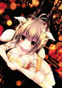 Rating: Safe Score: 83 Tags: animal_ears horns konno_kengo thighhighs User: van