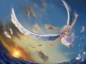 Rating: Safe Score: 25 Tags: angel kiratsuki landscape wings User: Radioactive