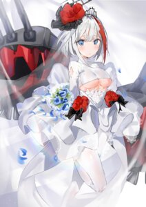 Rating: Safe Score: 62 Tags: admiral_graf_spee_(azur_lane) azur_lane dress no_bra pantyhose underboob weapon wedding_dress yuuko_(030_yuko) User: Mr_GT