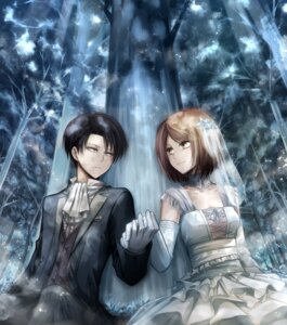 Rating: Safe Score: 18 Tags: angel31424 dress levi petra see_through shingeki_no_kyojin wedding_dress User: charunetra