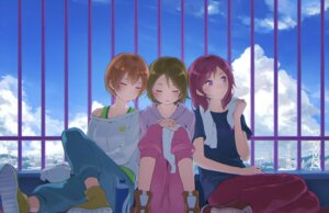 Rating: Safe Score: 24 Tags: hoshizora_rin koizumi_hanayo love_live! minamito nishikino_maki towel User: blooregardo