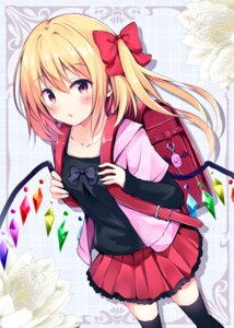 Rating: Safe Score: 51 Tags: flandre_scarlet hyurasan thighhighs touhou wings User: aaayu