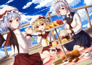 Rating: Safe Score: 29 Tags: flandre_scarlet izayoi_sakuya remilia_scarlet seifuku touhou wings yezhi_na User: Mr_GT