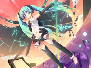 Rating: Safe Score: 30 Tags: hatsune_miku masaki_(machisora) miku_append thighhighs vocaloid vocaloid_append User: blooregardo