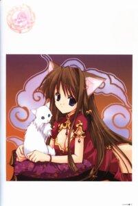 Rating: Safe Score: 9 Tags: animal_ears binding_discoloration chinadress cleavage nanase_aoi nekomimi User: syaoran-kun
