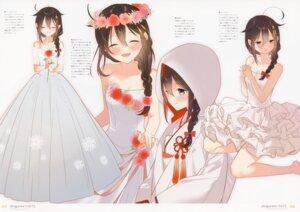 Rating: Safe Score: 30 Tags: character_design dress japanese_clothes kantai_collection moni naoto shigure_(kancolle) wedding_dress User: charunetra