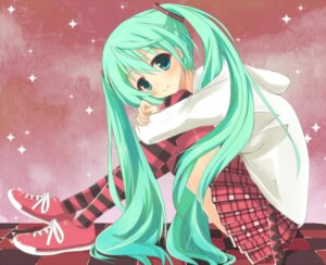 Rating: Safe Score: 30 Tags: hatsune_miku minase_kaya thighhighs vocaloid User: MK-Scorpion