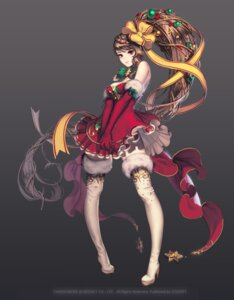 Rating: Safe Score: 58 Tags: chaos_hero_online christmas cleavage dress heels kali lovecacao thighhighs User: charunetra
