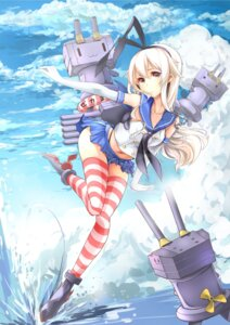 Rating: Safe Score: 45 Tags: kantai_collection rensouhou-chan shimakaze_(kancolle) suikaxd thighhighs User: Romio88