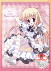 Rating: Questionable Score: 40 Tags: alice alice_in_wonderland maid morinaga_korune pantsu thighhighs User: crim