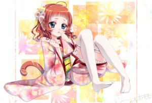 Rating: Safe Score: 19 Tags: animal_ears kimono omo_omomo tail thighhighs User: Mr_GT