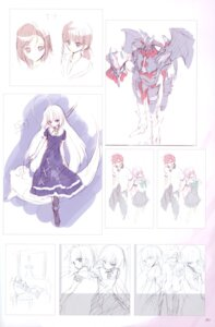 Rating: Safe Score: 7 Tags: demon_parasite dress fancy_fantasia mecha sketch ueda_ryou User: Radioactive