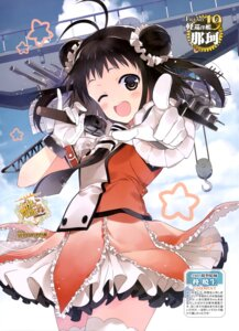 Rating: Questionable Score: 37 Tags: hiiragi_akio kantai_collection naka_(kancolle) seifuku thighhighs User: drop