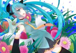 Rating: Safe Score: 18 Tags: hatsune_miku mizuki thighhighs vocaloid User: fairyren