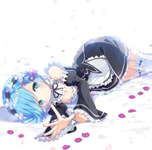 Rating: Safe Score: 74 Tags: cleavage maid re_zero_kara_hajimeru_isekai_seikatsu rem_(re_zero) rugo stockings thighhighs User: Mr_GT