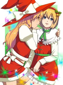 Rating: Safe Score: 8 Tags: alice_margatroid christmas inuzuka_bouru kirisame_marisa touhou User: konstargirl