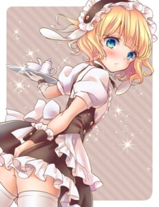 Rating: Questionable Score: 74 Tags: ass gochuumon_wa_usagi_desu_ka? kirima_sharo loli nopan thighhighs waitress yutsumoe User: Radioactive