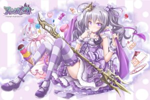Rating: Safe Score: 24 Tags: akino_coto heels lolita_fashion magia_break pointy_ears thighhighs weapon wings User: Mr_GT