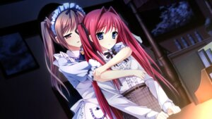 Rating: Safe Score: 44 Tags: ensemble_(company) game_cg kimishima_ao maid miyama_mizuki ootori_rena otome_ga_tsumugu_koi_no_canvas trap User: Radioactive