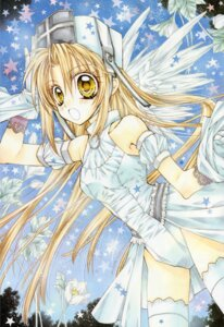 Rating: Safe Score: 10 Tags: otomiya_haine shinshi_doumei_cross tanemura_arina thighhighs wings User: syaoran-kun