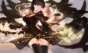 Rating: Safe Score: 48 Tags: cleavage dress higandgk see_through thighhighs User: charunetra