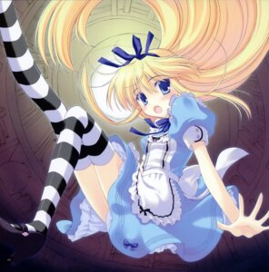 Rating: Safe Score: 43 Tags: alice alice_in_wonderland dress ice_&_choco nanao_naru thighhighs User: midzki