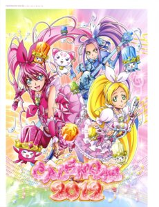 Rating: Questionable Score: 5 Tags: dress guitar houjou_hibiki hummy kurokawa_ellen minamino_kanade pretty_cure suite_pretty_cure takahashi_akira thighhighs weapon User: drop