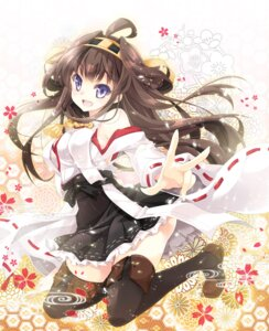 Rating: Safe Score: 44 Tags: kantai_collection kongou_(kancolle) mocha_(naturefour) thighhighs User: fairyren